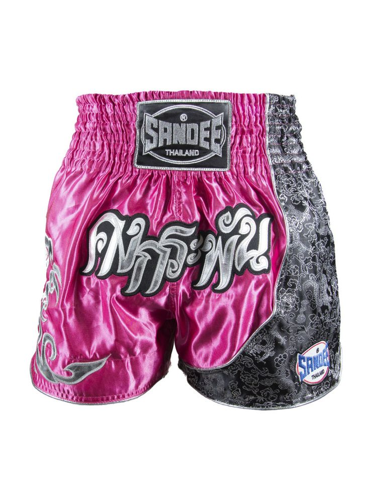 Sandee Unbreakable Thai Shorts - Pink & Black - All Ages