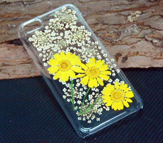 Dasiy iPhone 5C casePressed flower Phone by UUniquecase on Etsy