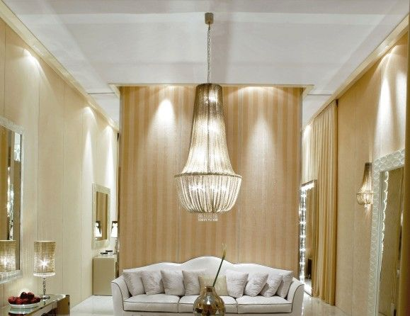 Nella Vetrina Visionnaire Murano Galahad Luxury Chandelier in Natural Aluminum Plates with a Steel Frame.