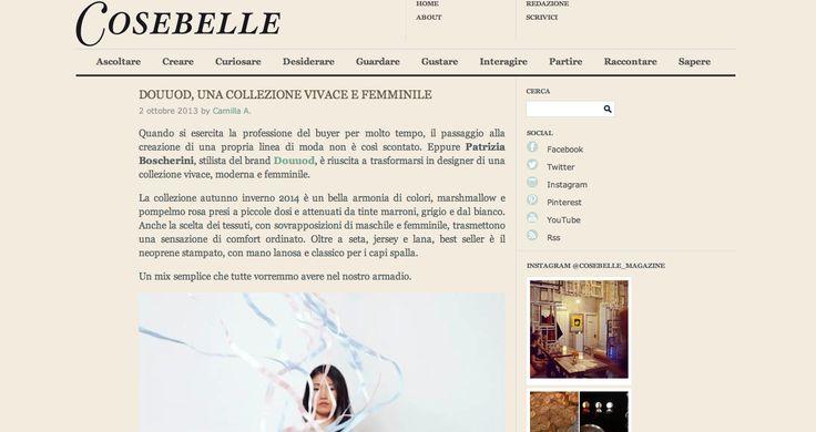 Articolo su Douuod pubblicato su http://www.cosebellemagazine.it/2013/10/02/douuod-una-collezione-vivace-e-femminile/
