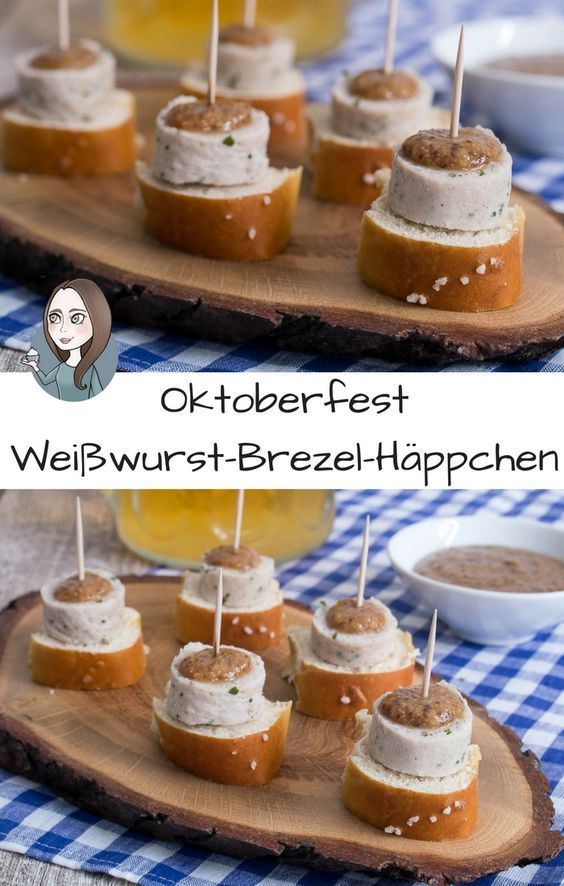 Weisswurst appetizers for the Oktoberfest recipe
