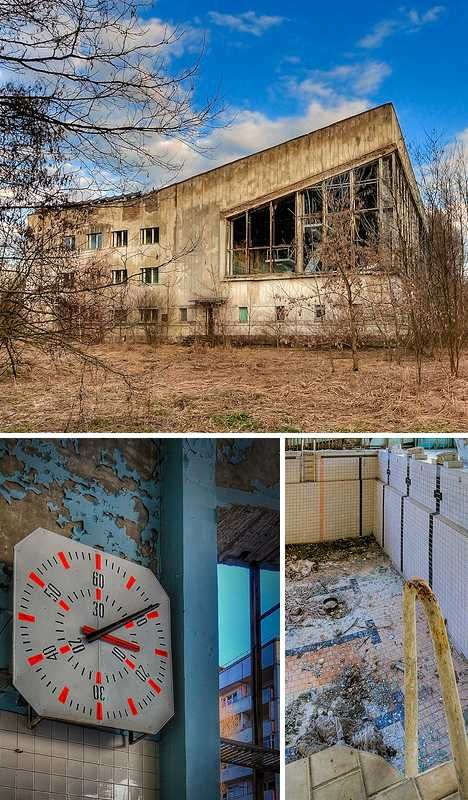 abandoned swimming pool Pripyat Chernobyl