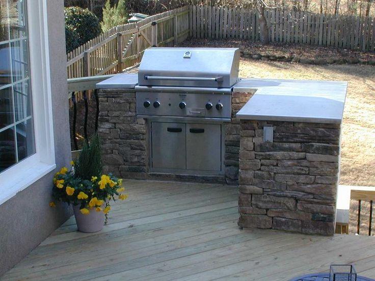 Outdoor Grills Built In Plans Kitchen On Deck Kitchens Photo Gallery