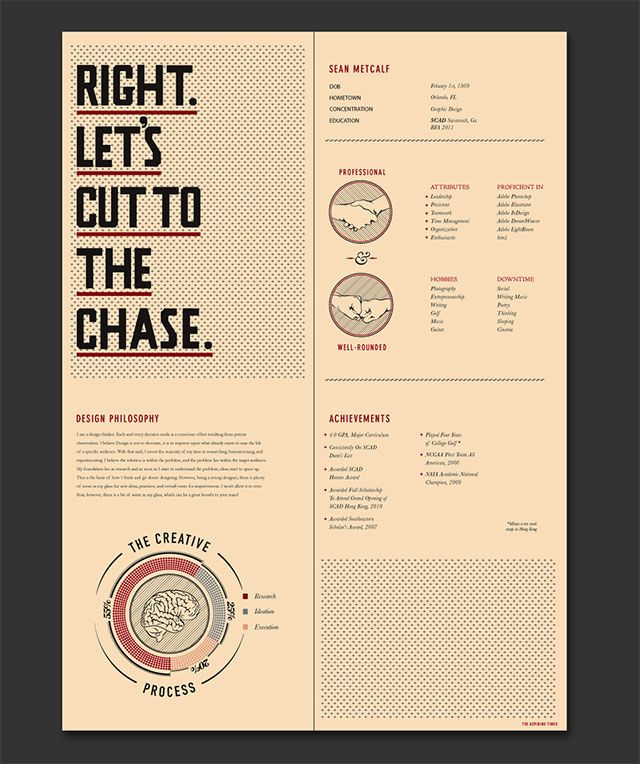 Really Cool Resumes 31 Best Buisness Cards Cv Portfolio Images