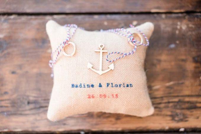 #Ringkissen für die #Hochzeit / #Wedding im #maritim Look - Das tolle Foto wurde gemacht von Sandra Hützen: http://sandrahuetzen.de