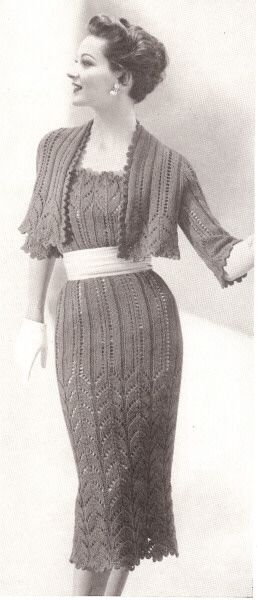 knit lace dress and bolero