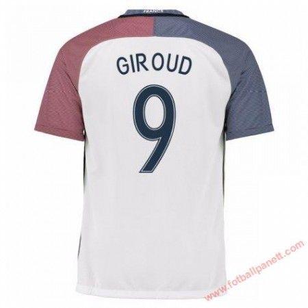 Frankrike 2016 Olivier Giroud 9 Bortedrakt Kortermet.  http://www.fotballpanett.com/frankrike-2016-olivier-giroud-9-bortedrakt-kortermet-1.  #fotballdrakter