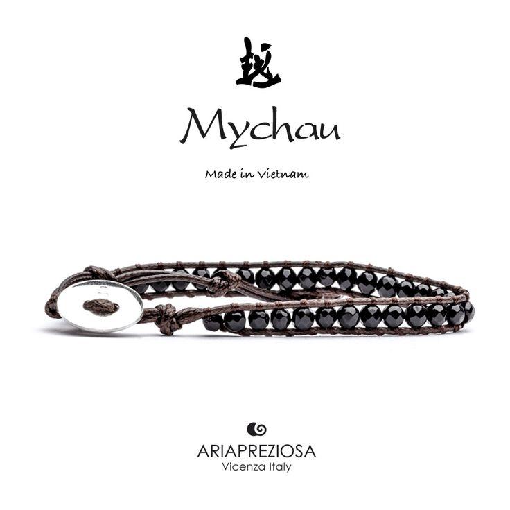 Mychau - Bracciale Vietnam originale realizzato con Onice naturale su base bracciale col. Testa di Moro