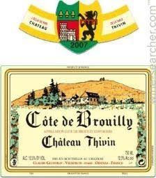 Chateau Thivin Cote de Brouilly, Beaujolais, France