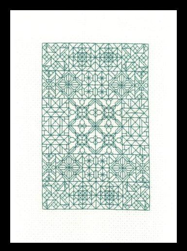 Blackwork Fantasy - blackwork/backstitch  cross stitch pattern