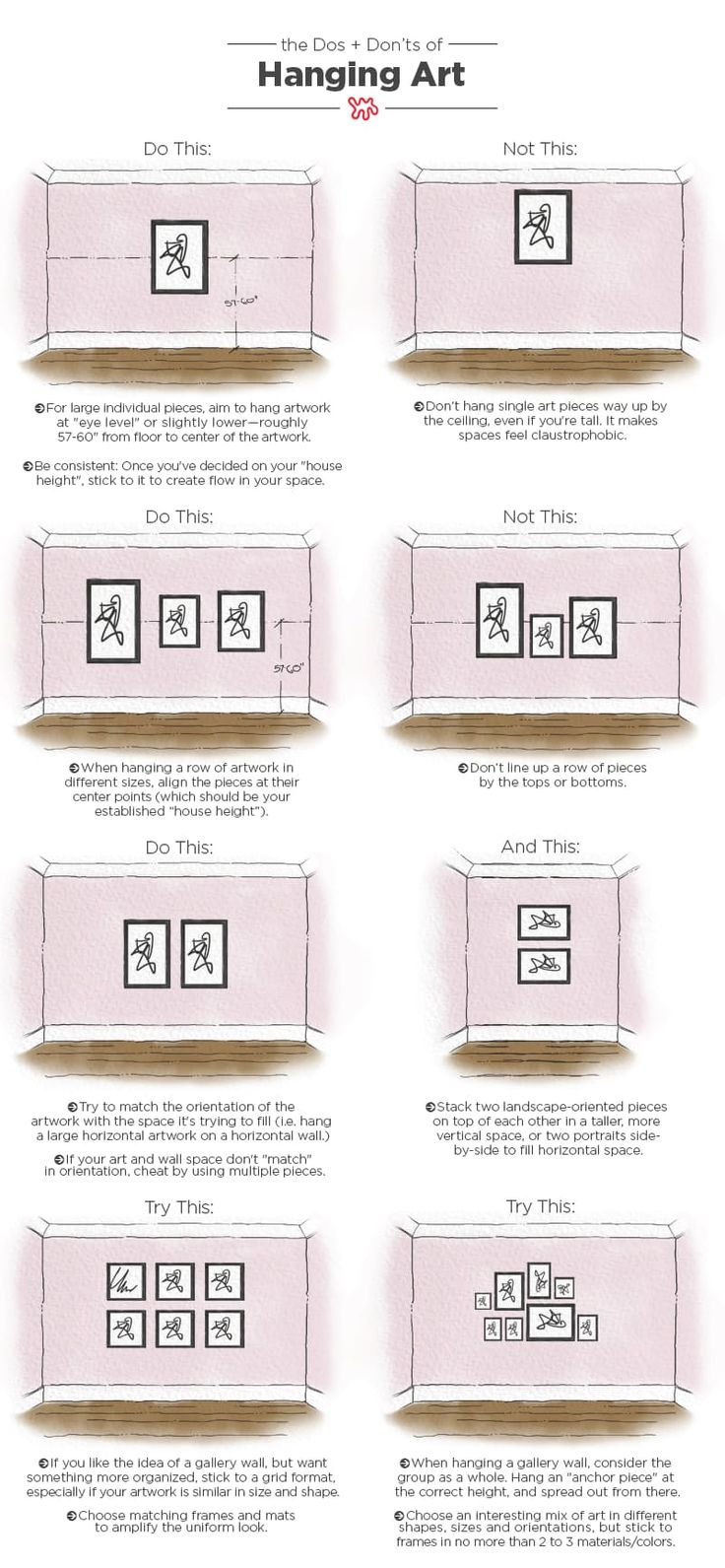 Dos and Don'ts of Hanging Art: Tips & Measurements