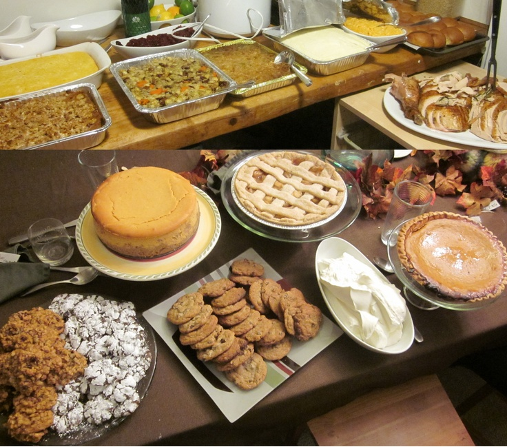 Thanksgiving spread...if you left hungry, you didn't do it right.