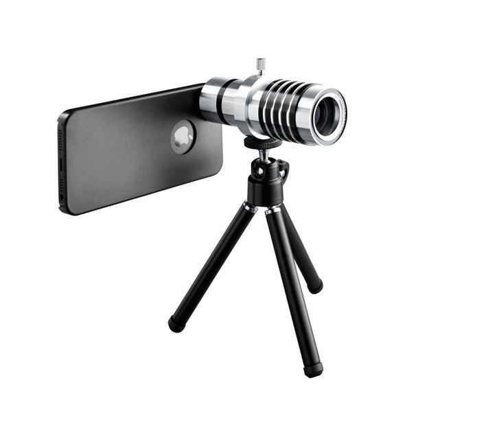 iPhone zoom lens and tripod, $49