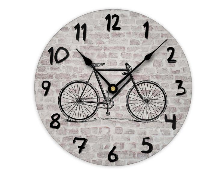 Bicycle Wall Clock Bike Gifts For Men Rustic Urban Decor Wall