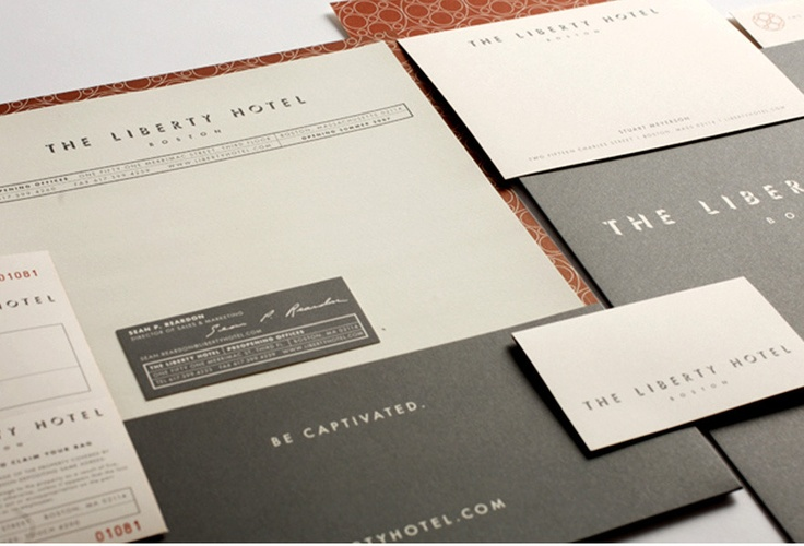 The Liberty Hotel | Client: Carpenter & Company | Brand identity, collateral, signage, and ad campaign for a luxury hotel, once a notorious jail in Boston | Designer: Bryant Ross | Image 2 of 8