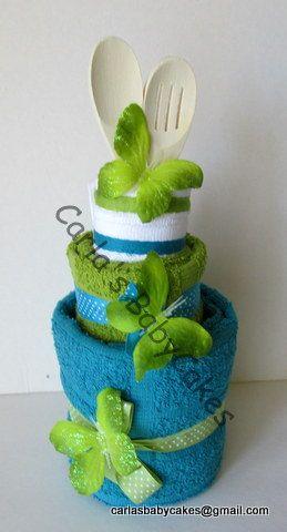 Kitchen Towel Cake  Bridal Shower Gift  by MsCarlasBabyCakes, $28.00