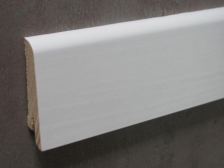 KS60 Pedross - listwa przypodłogowa  malowana biała  Wymiary: 250 x 6 x 1,5 cm