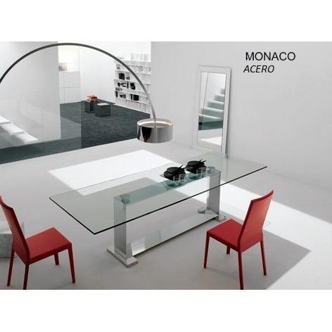 Mesa de comedor w en acero inoxidable linea steel design - Decoraciones de comedores ...