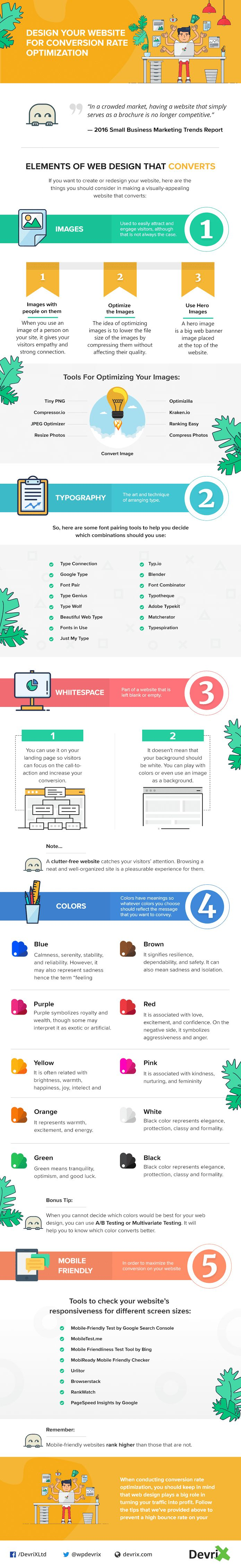 How to Design Your Website for Conversion Rate Optimization - #infographic