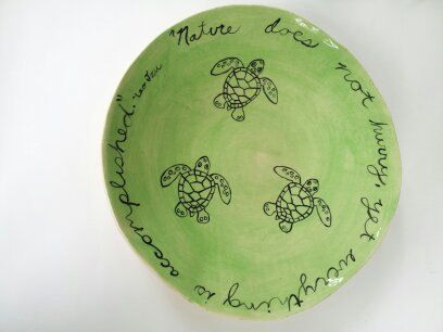 Loggerhead Sea Turtle Hatching Bowl by elizabethpottery on Etsy, $90.00