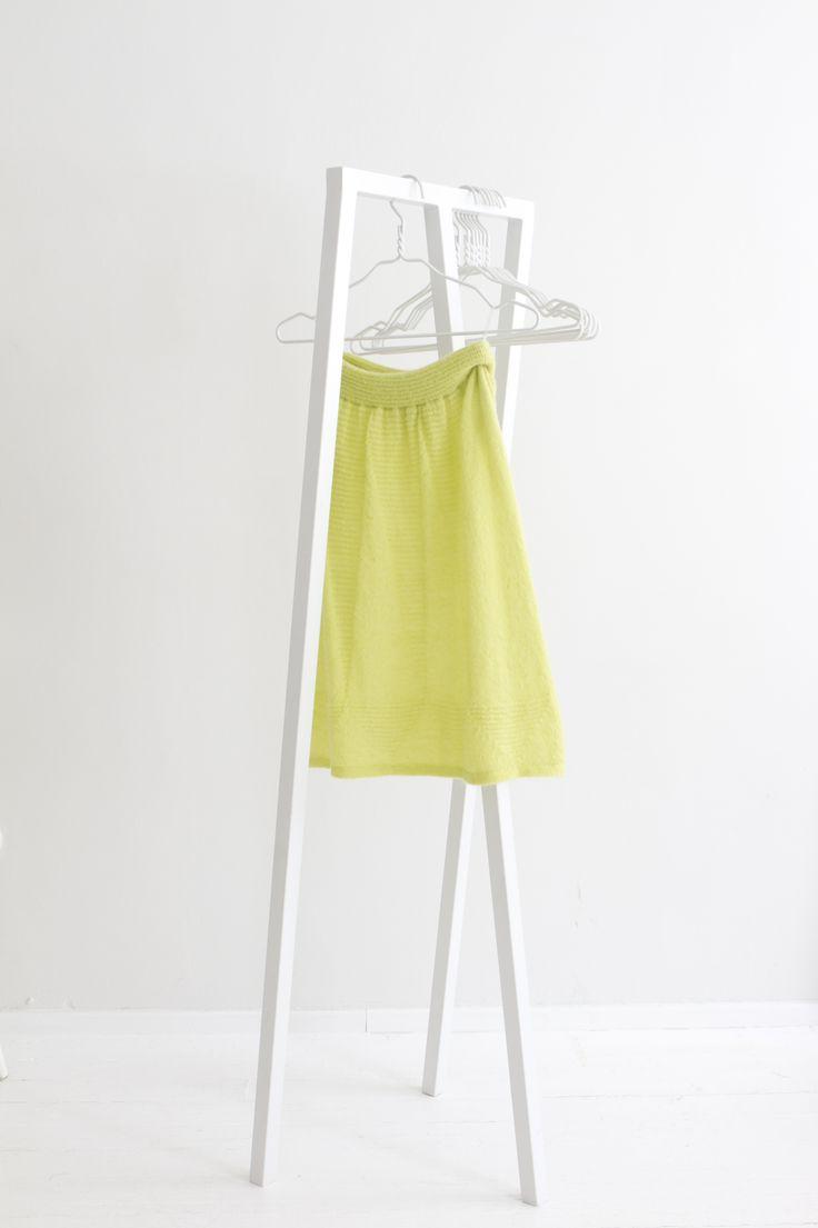 """Geometry"" Hanna Sarén AW13 / yellow mohair skirt"