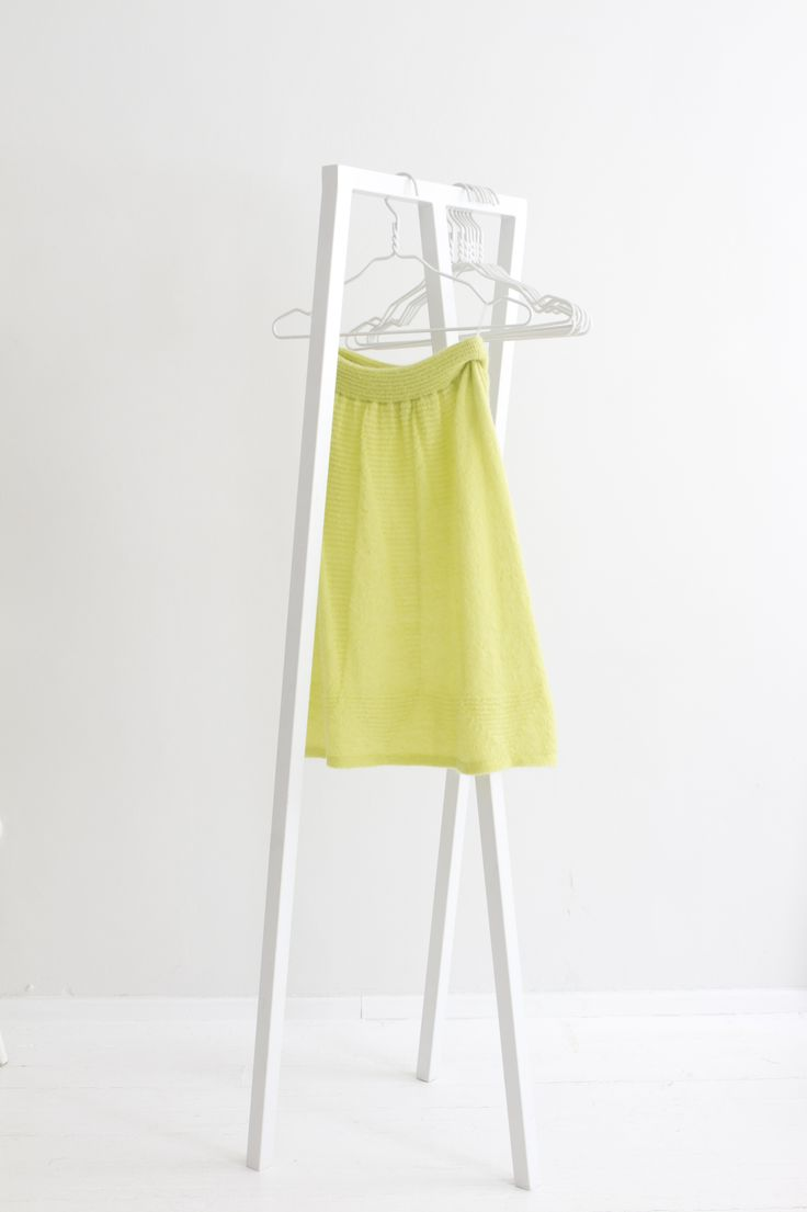 """Geometry"" Hanna Sarén AW13 / yellow mohair skirt"