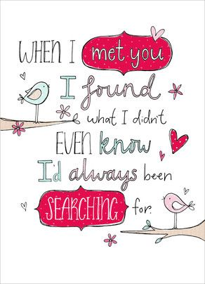 Searching Found Love Valentine's Day Card
