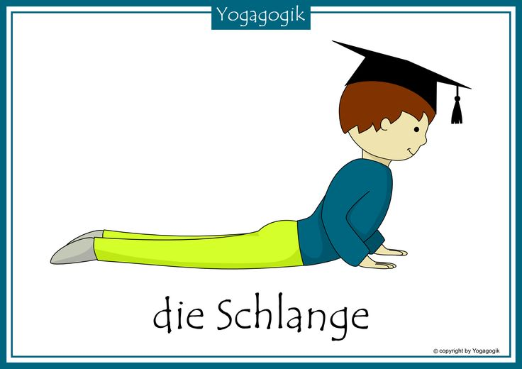 Kinderyoga Flashcards Schlange