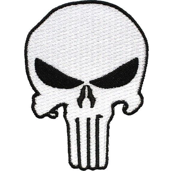 The Punisher Black Marvel Avengers Iron or Sew on Embroidered Patch applique