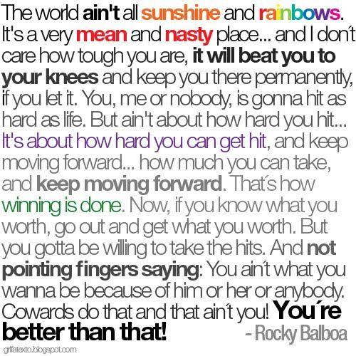 Rocky Balboa Quotes | wow. thats fresh.: 11.09