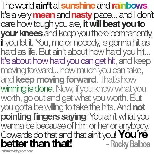 Rocky Balboa Quotes | wow. thats fresh.: 11.09