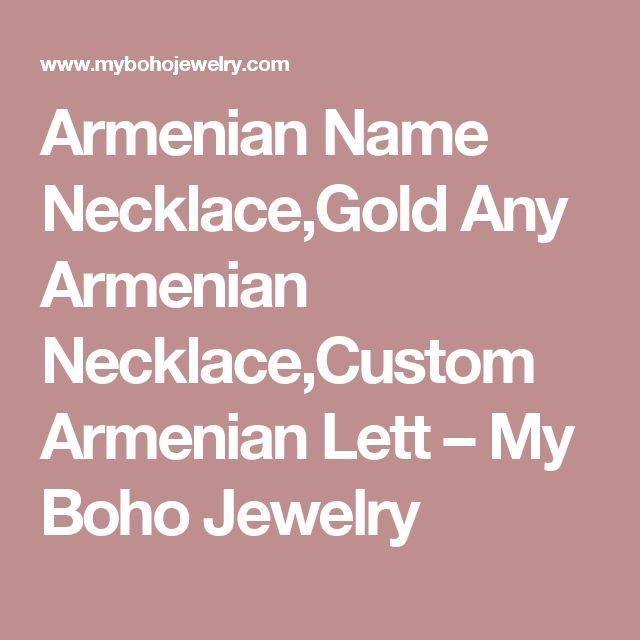 Armenian Name Necklace,Gold Any Armenian Necklace,Custom Armenian Lett – My Boho Jewelry
