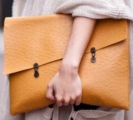DIY Homemade faux ostrich clutch inspiration