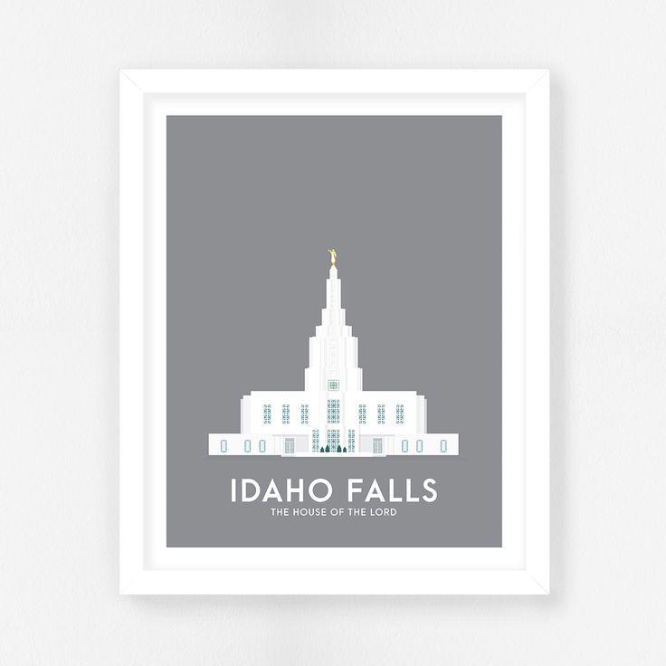 Idaho Falls Idaho LDS Temple || Idaho Falls Temple || LDS Temple Prints