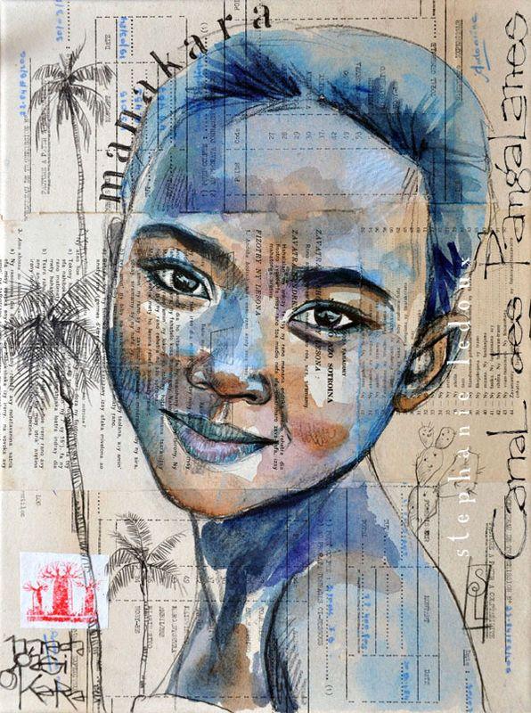 Stéphanie Ledoux - Carnets de voyage: b l e u e