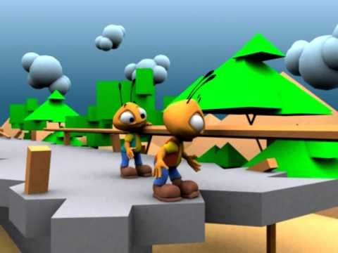 Teamwork  - Teamwork also means gaining trust of each other. Ants Teamwork animation must see