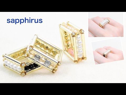 2 Amazing Bugle Bead Ring Tutorials by Sapphirus | The Beading Gem's Journal | Bloglovin'