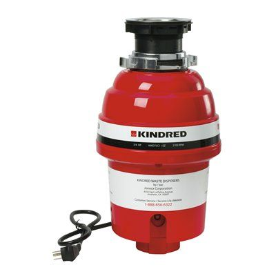 Kindred KWD75C1/EZ Continuous Feed Food Waste Disposer