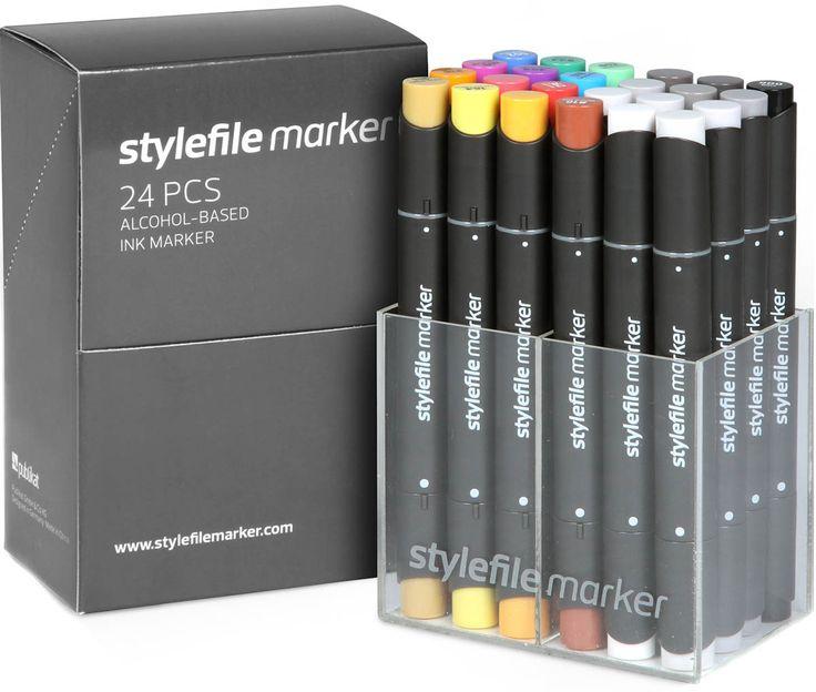 Набор маркеров STYLEFILE 24шт основные цвета A от Stylefile по 6 805.00 руб