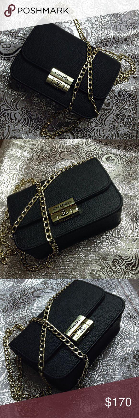 Mini bag Mini Chanel bag, Chanel mini purse. Black leather bag, Black mini bag. Evening bag, Black leather clutch. Crossbody, shoulder bag. Black Chanel. Wallet on chain, Gold chain bag. New. No, it's not... No, this isn't. Please read again Bags Mini Bags