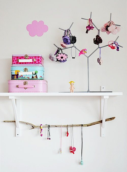 to keep necklaces and hairbands etc organized