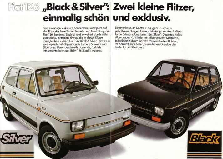 Fiat 126 Black, Silver