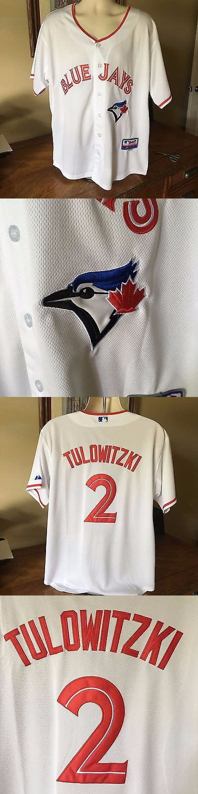 Other Baseball and Softball 181355: Toronto Blue Jays #2 Troy Tulowitzki White Flexbase Stitched Baseball Jersey Lrg BUY IT NOW ONLY: $49.95