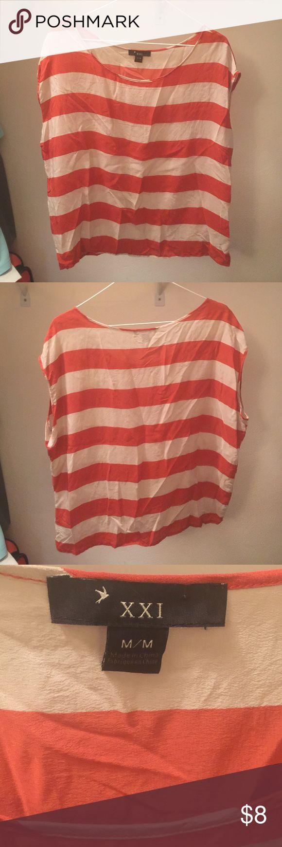 Short sleeved dress shirt Short sleeved dressy shirt. Very light weight! Perfect for fall! xxi Tops Tees - Short Sleeve
