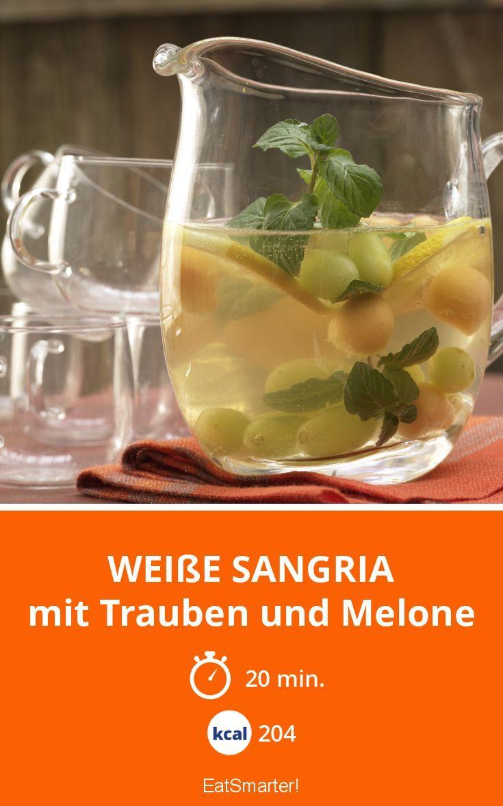 Weiße Sangria - mit Trauben und Melone - smarter - Kalorien: 204 Kcal - Zeit: 20 Min. | eatsmarter.de