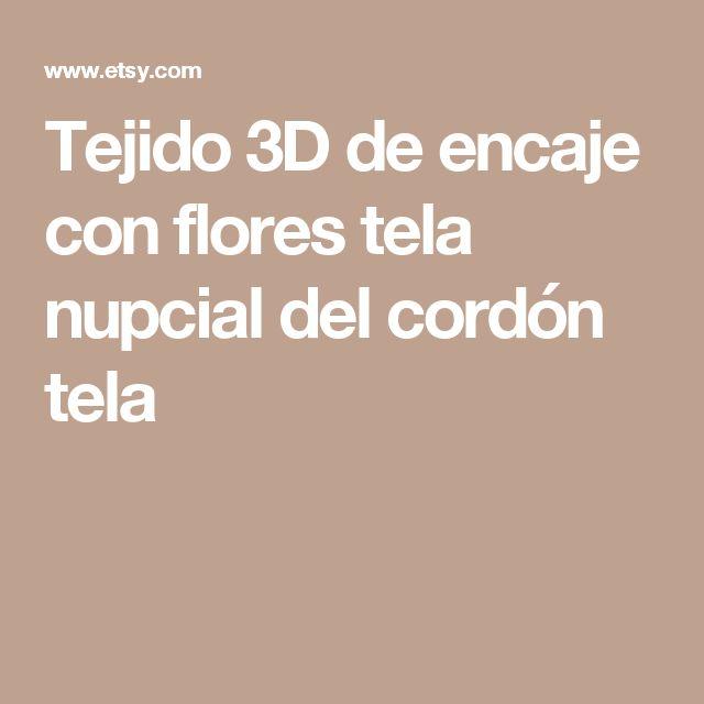 Tejido 3D de encaje con flores tela nupcial del cordón tela