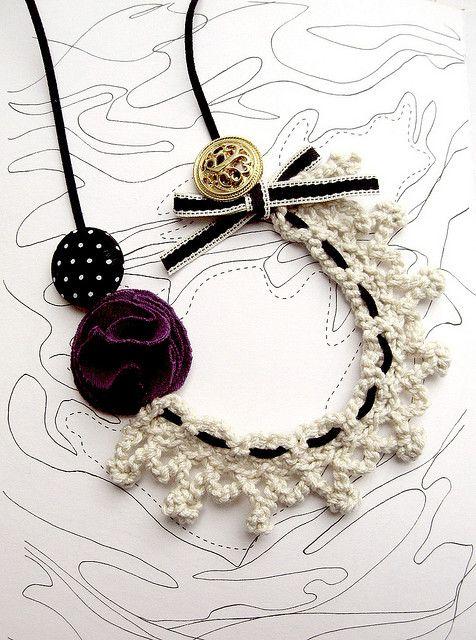 Crochet collar necklace by LolitaSummer, via Flickr