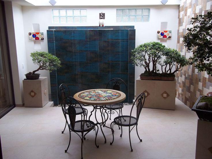 Comedor en hierro, piedra y vitral, arte único en el mundo. athosmuebles.com