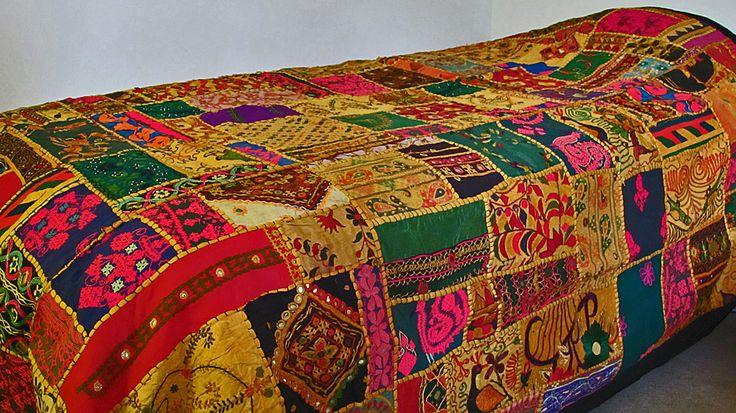 Handmade Fair Trade Gujarat Patchwork Tapestry Bedspread