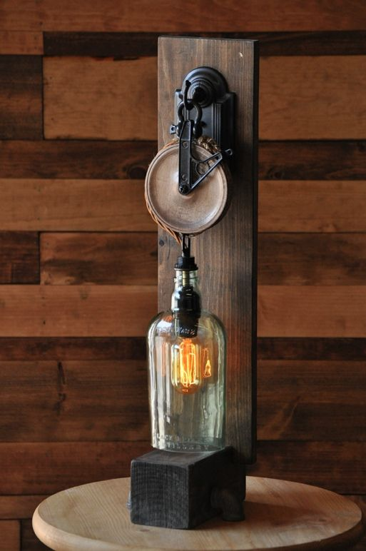 The chandler recycled bottle desk lamp